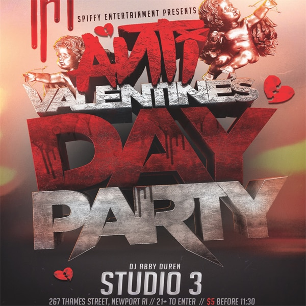 Anti Valentine S Day Party In Studio 3 The Pelham Newport Ri