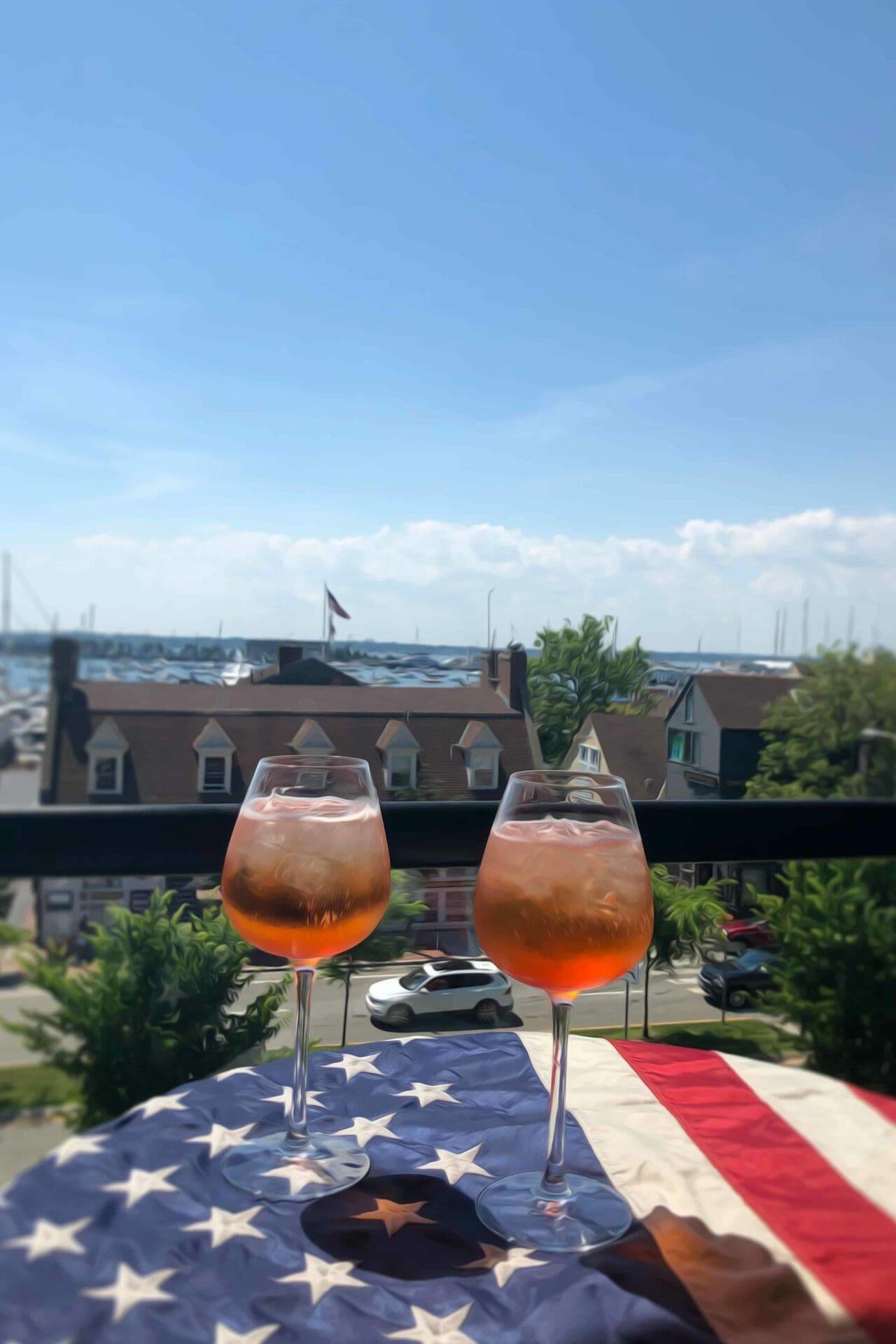 Drinks with ocean views